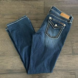 Seven 7 Jeans Bootcut Button Pockets Denim Flare